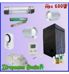 Kit Indoor HPS 600w AGRO Con Grow Box - Terra - Con Cooltube