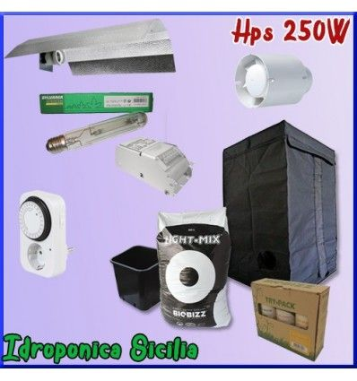 Kit Indoor Terra 250w + Grow Box - BASIC