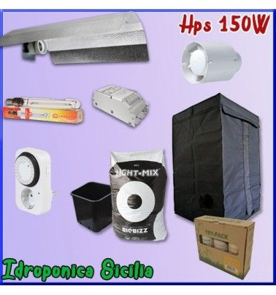 Kit Indoor Terra 150w + Grow Box - BASIC