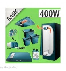 KIT COLTIVAZIONE INDOOR - TERRA - 400W AGRO + GROW BOX - BASIC